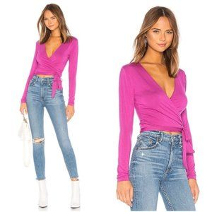 LOVERS + FRIENDS BUTTERY SOFT WRAP TOP